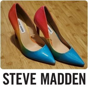 NWOB Steve Madden Alary rainbow pumps